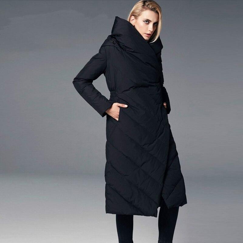 Capuche Noir Nouveau À Plus Chaud La Femmes Manteaux Épaissir Bagomoto rouge Long Hiver Taille Manteau Pardessus Femme 2018 Veste Parka OuZkiXP