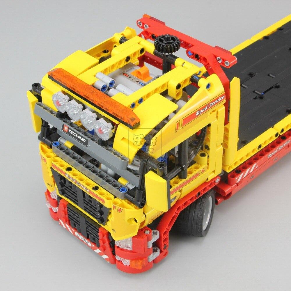 Technic Series 1143 pièces blocs de construction jouets pour enfants à plat camion briques jouet cadeaux Compatible Legoe Technic 8109 - 6