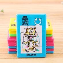 Движущаяся головоломка, развивающие игрушки, пластиковая 9 сетка, животные, скользящая головоломка, игрушка для детей, случайный цвет