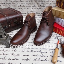 SPB12 – BIG SIZE Ankle Fashion Boots for Men Made Of Genuine Calf Leather, Flats In Handmade Goodyear Welt Shoes Free Shipping