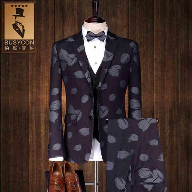 office leopard print. Groom Mens Leopard Print Suit Wedding Gray Men Business Suits Formal Office Work(JACKET