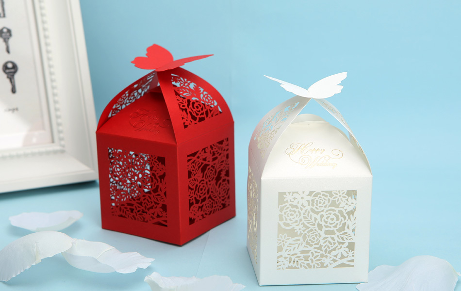 Erfly Laser Cut Wedding Candy Box Red White Paper Favors Gift 112007 In Party From Home Garden On Aliexpress Alibaba Group