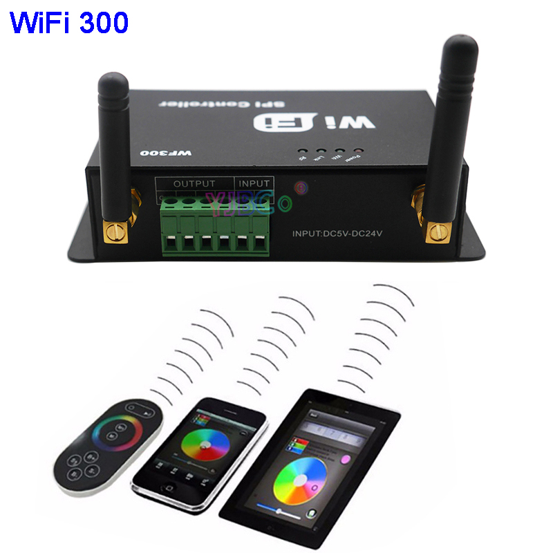 WiFi 300 RGB Controller Touchable Screen Remote LED WiFi SPI Controller for LPD6803 WS2811 WS2801 5050