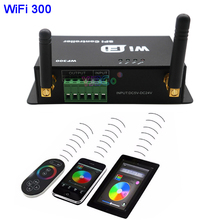 WiFi 300 RGB Controller Touchable Screen Remote LED WiFi SPI Controller for LPD6803 WS2811 WS2801 5050 SMD LED Strip,DC5-24V