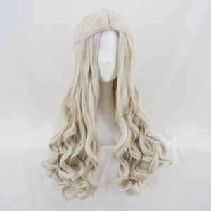 Image 3 - Alice in Wonderland 2 White Queen Cosplay Wig Blonde Wavy Long Synthetic Hair Heat Resistance Fiber Halloween Party Costume Wigs