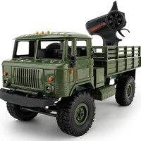 B-24 WPL 2.4 GHz 1/16 Oyuncak Sınıf 4WD RC Askeri Yeşil kamyon Kablosuz Radyo Uzaktan Kumanda Araba Yüksek Hızda Araba Anti Vurmak DE15b