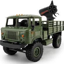 WPL B-24 2.4GHz 1/16 Toy Grade 4WD RC Military Green Truck Wireless Radio Remote Control Car High-Speed Car Anti Knock DE15b