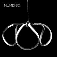 mumeng LED Acrylic Pendant Lights 45W Modern Kitchen Lamp 170 265v Dining Living Room Luminaria Daylight Hanging Light Fixture