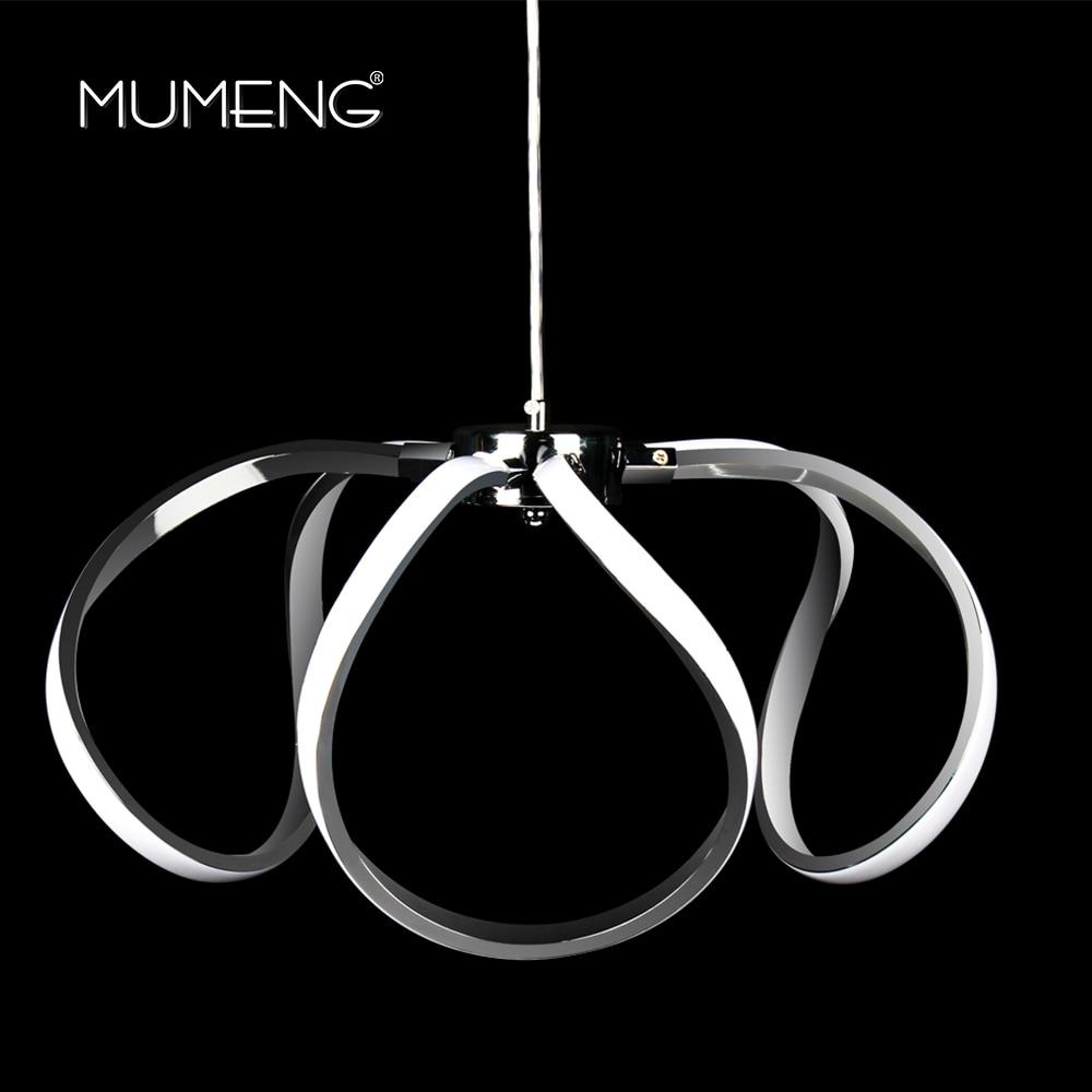 Mumeng светодио дный светодиодный акриловый подвесной светильник 45 Вт современный кухонный светильник 265 В 170 в столовая гостиная Luminaria дневно...