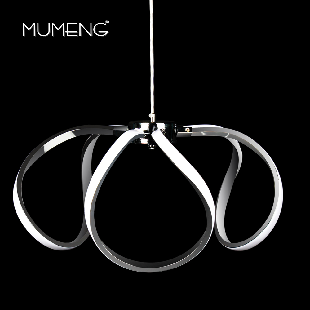 mumeng LED Acrylic Pendant Lights 45W Modern Kitchen Lamp 170-265v Dining Living Room Luminaria Daylight Hanging Light Fixture