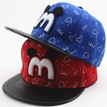 Korean Fashion Cute Mouse Kids Baseball Caps Children's New Baseball Hat Boys And Girls Spring Outdoor Hip-hop 2019 Fashion Hat