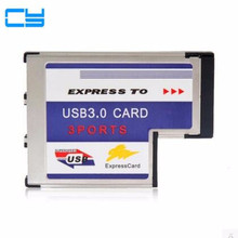 цена PCI-E PCI Express Card ExpressCard 54mm 34mm T type to USB 3.0 3 Port Adapter Low Profile Short Body type for Laptop Notebook