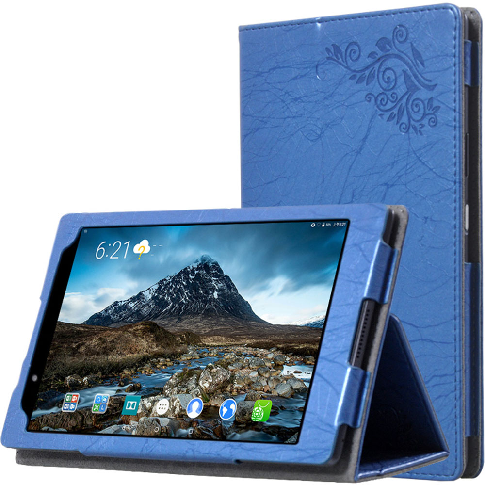 For Lenovo TAB 4 8 Case Print PU Leather Hand Holder Cover Case for Lenovo TAB4 8 TB-8504N TB-8504F 8'' Tablet Case+Stylus Pen