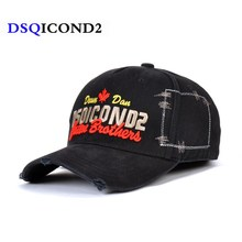 DSQICOND2 Casual Black Baseball Caps Men Brand DSQ Letter Snapback Cap for Mens Women Cap Gorras Bone Dad Hats Hip Hop Casquette weed snapback hats hip hop baseball cap i gorras bones dgk love haters for men women bone aba reta gorras homme casquette