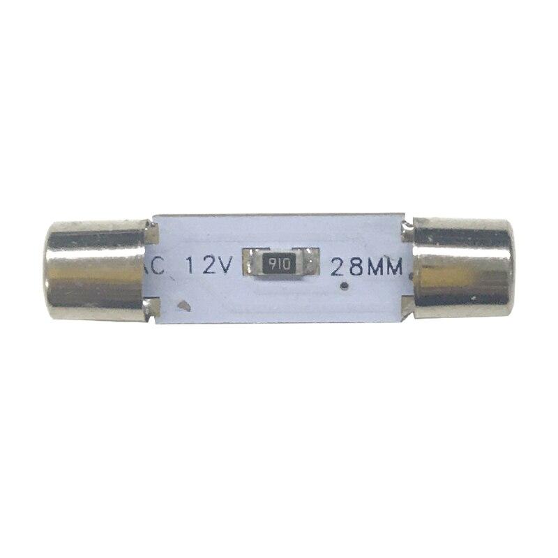 2pcs White 5050 3-SMD 29mm 6614F LED Festoon Bulbs For Car Sun Visor Vanity Mirror Lights Xenon White Replacement Halogen bulb