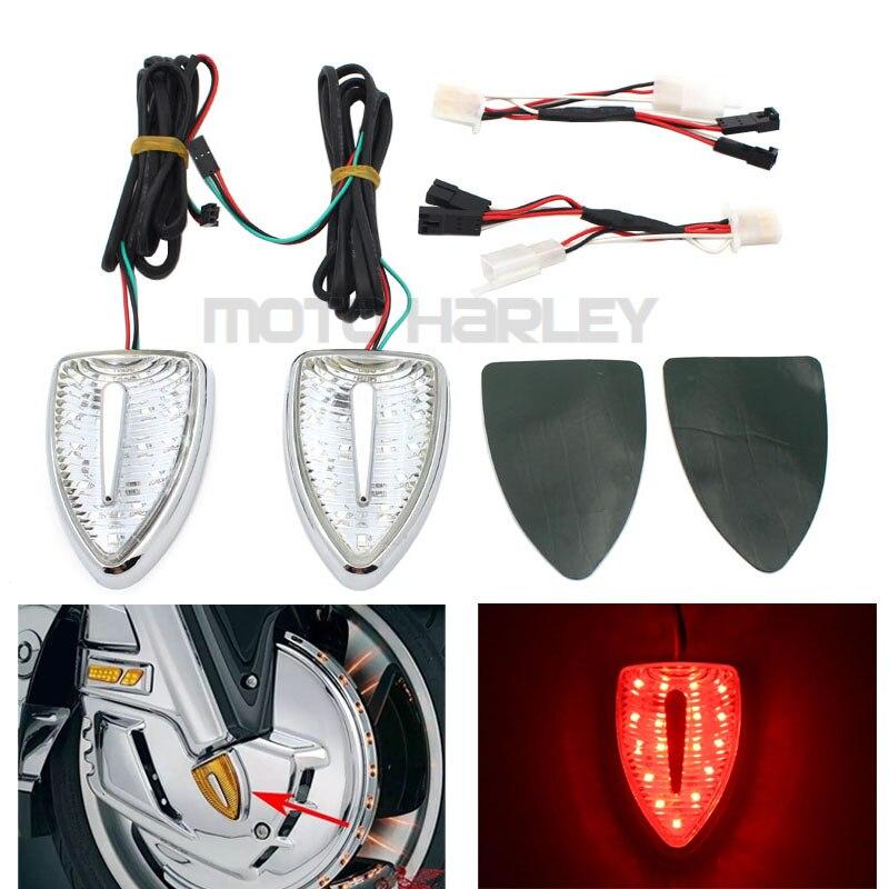 motocicleta aero cabeca marcador vermelho luzes indicadoras sinal de volta caso para honda goldwing gl1800 gl