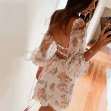 Cuerly sexy sequins dress women 2019 summer off shoulder bow print party club L5