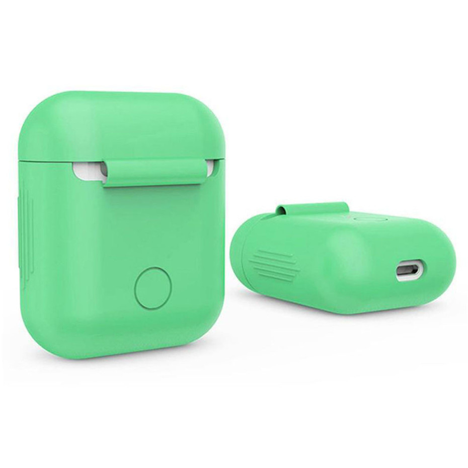 Ouhaobin Popular Solid Color Protective Cover Case With Wire Anti Lost For Apple AirPods Earphones Soft Silicone Boxes Sep13