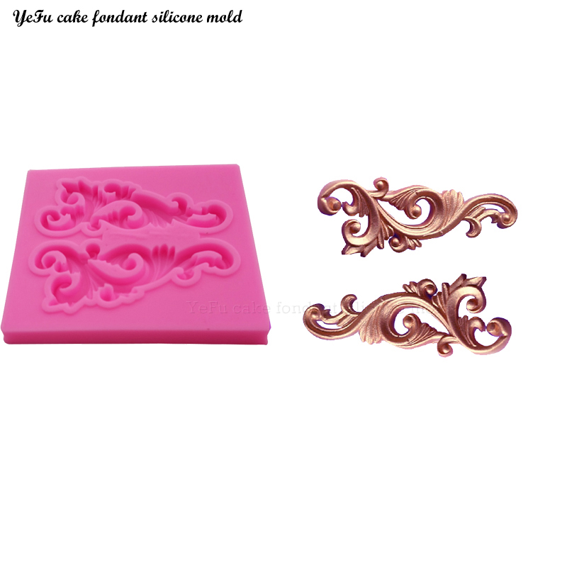 YeFu lace border vine Border silicone cooking mold cake decorating tools gumpaste mould Fondant  Molds DIY Cake fimo T0882