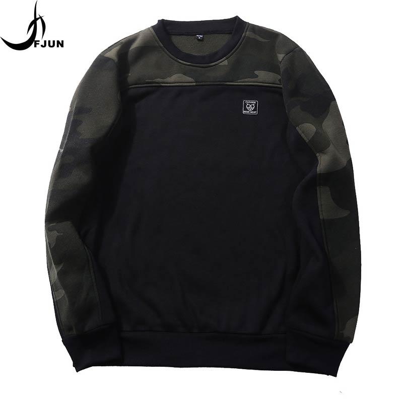FJUN 2018 Camouflage Hoodies Men Sweatshirt Hip Hop Male Print Hoody  Sweatshirt Brand Autumn WinterMens Camo Pullover fashion