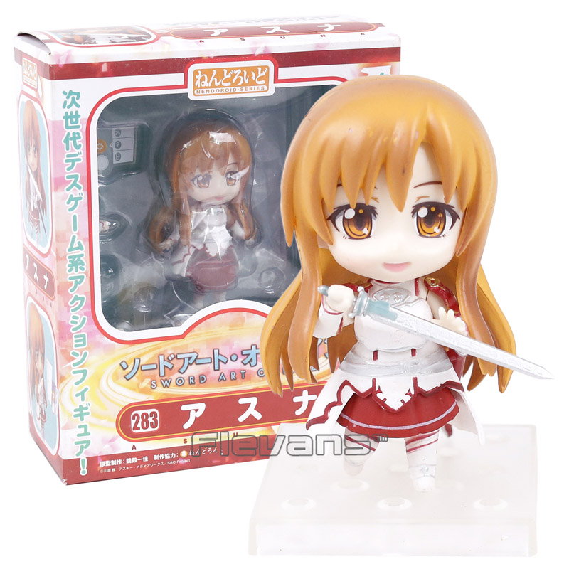 Sword Art Online Asuna 283 Nendoroid Doll PVC Action Figure Collectible Model Toy anime sword art online asuna figma 178 pvc action figure collectible model toy 15cm sofg035
