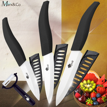 цена на Ceramic Knife Set 3 4 5 inch Slicing Utility Paring Fruit Peeler Vegetable Chef Knives Zirconia White Blade Kitchen Knife Set