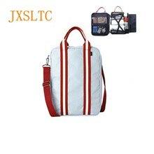 Купить с кэшбэком JXSLTC Nylon Duffle Bag Men Small Travel Bags Foldable Suitcase Big Capacity Weekend Bag Female Packing Cubes Tote Luggage