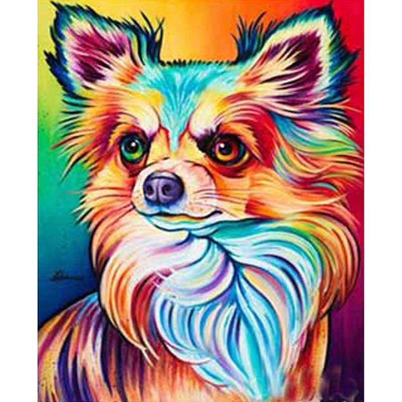 5d diy diamond embroidery chihuahua dog  painting Cross Stitch full square Rhinestone mosaic home decoration