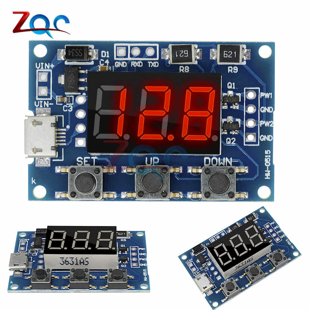 DC 5-30V Micro USB 5V Power Independent PWM Signal Generator 2 Channel Dual Way Digital LED Duty Cycle Pulse Frequency Board