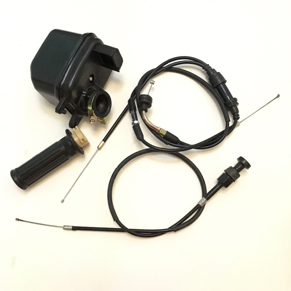 PW50 Air Filter Throttle /& Choke Cables and Throttle Grip for Yamaha PW50 PY50