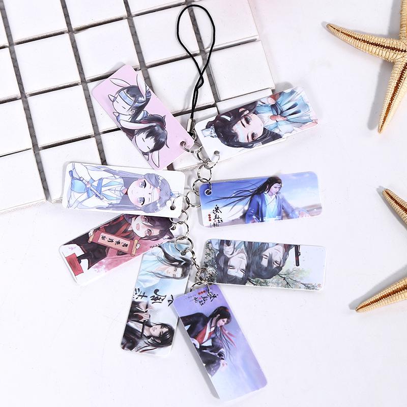 8Pcs/Set Cartoon Character Anime Mo Dao Zu Shi Key Chain PVC Mobile Pendant