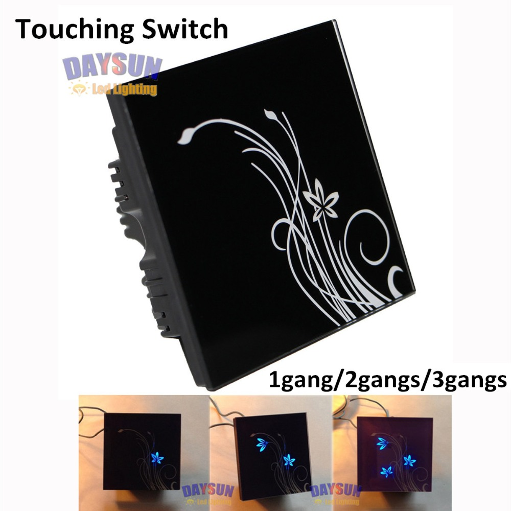 Free Shipping 1gang 2gans 3gangs 2 Way Touching Switch Crystal Glass High-end On-off Switch Elegant Design AC110V-260V Switch dr gans dg 04 terracotta