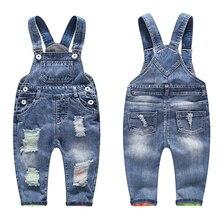 Jeans pour enfants, pantalons coréens en denim pour garçons, salopette à bavette, 3 8T