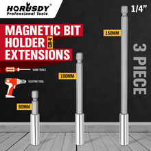 HORUSDY 3Pcs 1/4 Hex Rod Shank Long Handle Screwdriver Magnetic Bit Extensions 3 4 6 Quick Release Holder Tool Drill