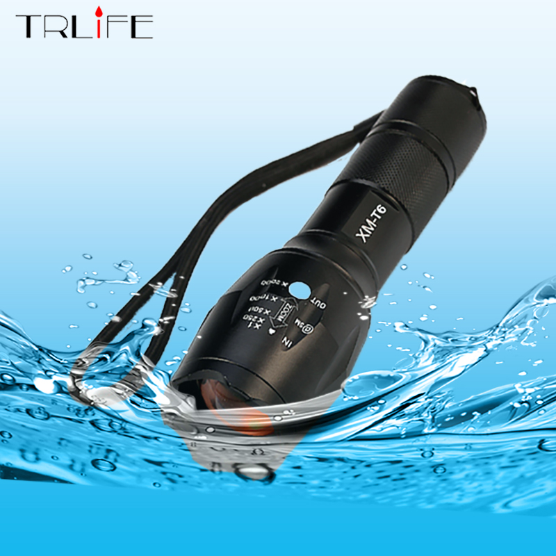High Power 3800 Lumens CREE XML-T6 5 Modes LED Flashlight Waterproof Zoomable Torch Lights Camping Lanterna for 18650 or 3AAA zk94 high quality cree q5 2000 lumens lanterna waterproof mini black led flashlight 3 modes zoomable tactical torch light
