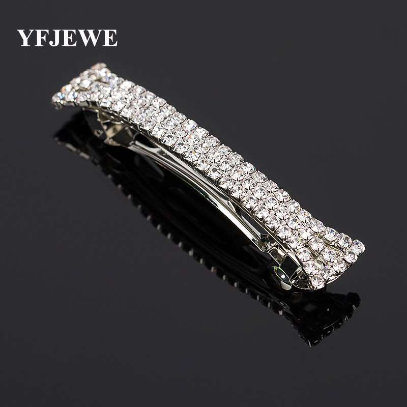 YFJEWE Fashion Women Casual Full Rhinestone Hair Wear Elegant Crystal Hairpin Jewelry Accessories Christmas Gifts <font><b>H002</b></font> image