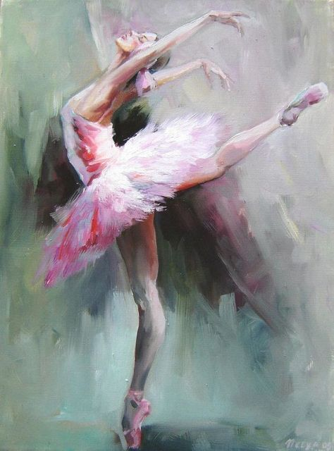 Handmade Abstract Ballerina Dancer Painting Swan Lake Girl Oil Painting for Living Room Wall Decor Office Art Portrait Picture