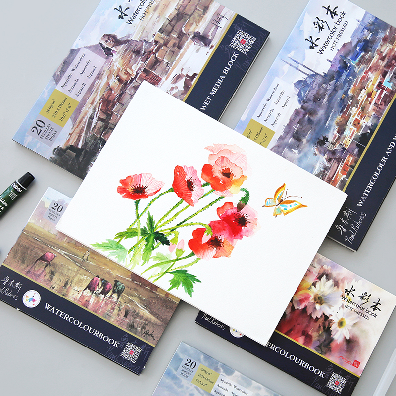 300g/m2 Professional Watercolor Paper 16K/32K Hand Painted Watercolor Book for Painting Drawing Supplies black and white painting professional hand painted illustrations drawing art book