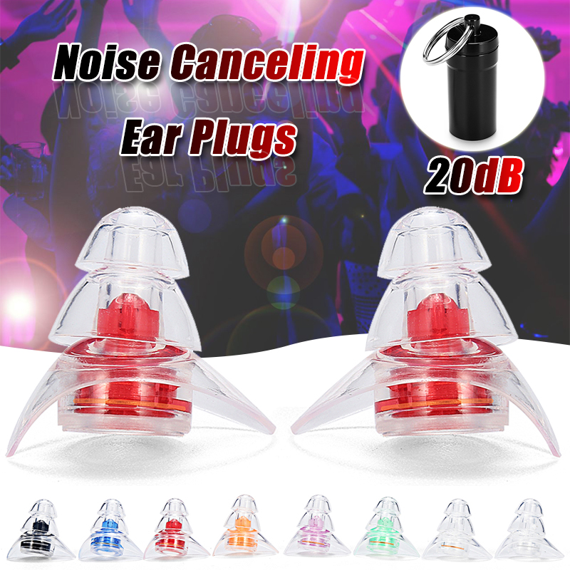1 Pair Soft Silicone Ear Plugs Noise Reduction Protection Reusable Professional Earplugs For Sleep DJ Musicians Party Motorcycle