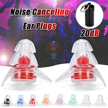 1 Pair Soft Silicone Ear Plugs Noise Reduction Protection Reusable Pro
