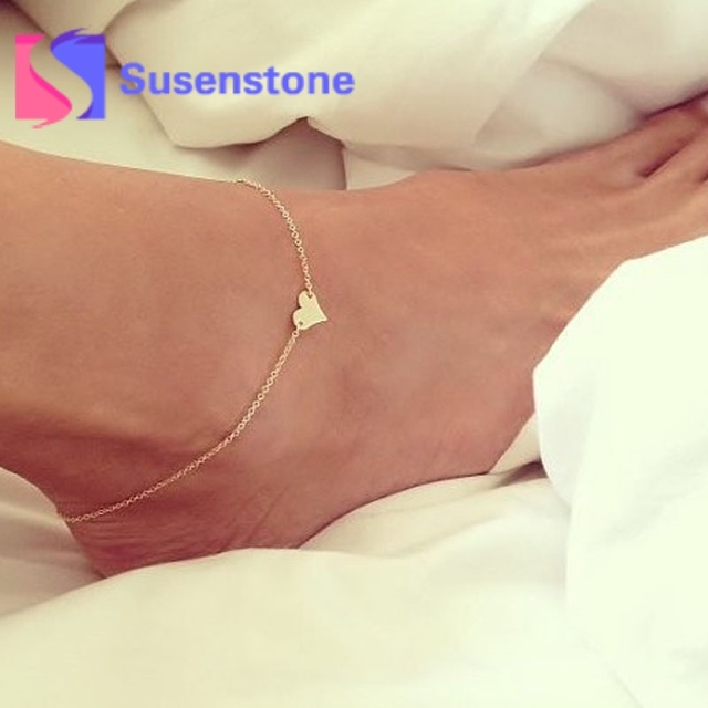 10 Styles Girlsl Fashion Elegant Simple Heart Ankle Bracelet Chain Boho  Beach Foot Sandal Jewelry for Women Barefoot Wholesale 3ba9afd1bcf4