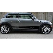2 шт для Mini Cooper S боковая Автомобильная полоска виниловая графическая Наклейка da4-0020