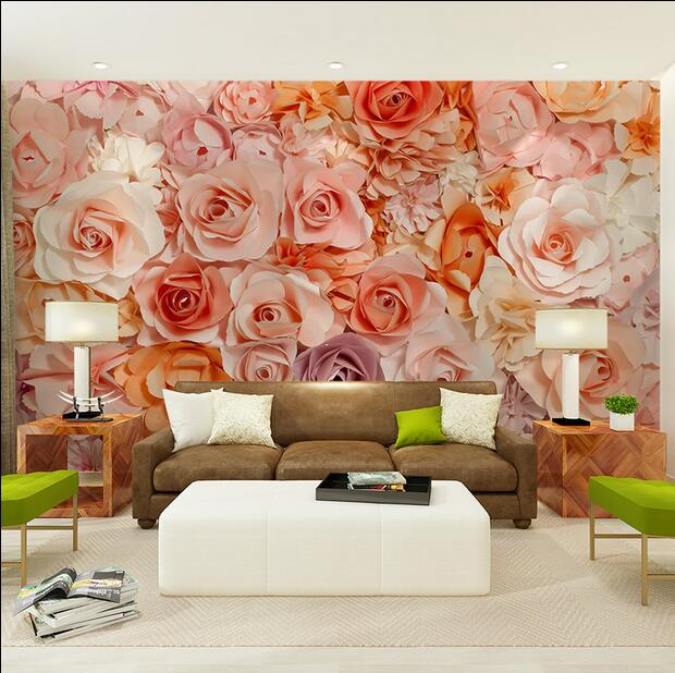 Large Rose Flower Papel Murals 3d Murals Wallpaper for Background Living Room 3d Wall Photo Mural 3d Wall Mural Wall paper Decor large flower blossom floral 3d room modern wallpaper for walls 3d livingroom wall paper mural rolls household papel de parede