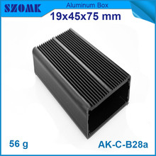 10 pieces a lot, hot sales distribution box electrical extrusion enclosure for pcb broad 19*45*75mm