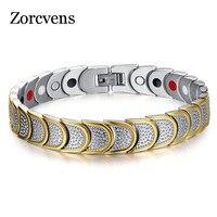 ZORCVENS Goud-Kleur gloednieuwe vrouwen multi fuction mannen magnetische armband sieraden gezonde zorg carbon armbanden & bangles voor mannen