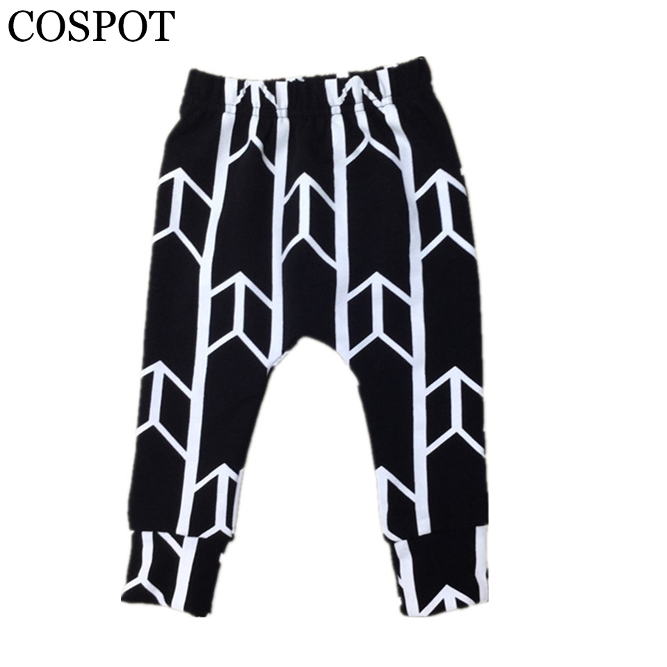 Baby Boys Girls Harem Pants Newborn Cotton Leggings Boy Autumn Fashion Black Arrow Harem Trousers 2017 New Arrival 40