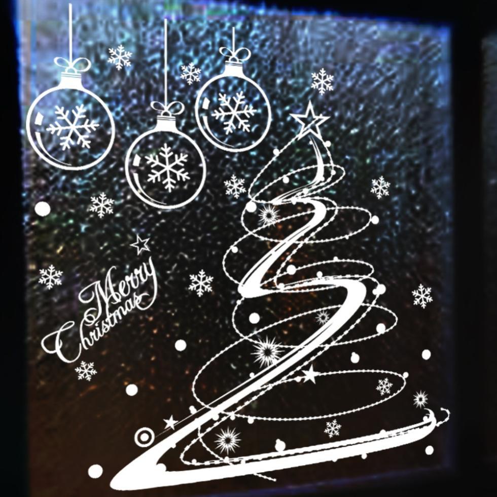 Christmas Decor For Glass Windows