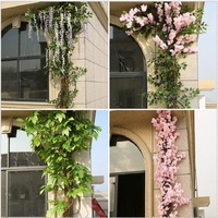 artificial plant Pipe decoration Fake trees bark interior decoration cherry wisteria vine mango leaves banyan tree leaf