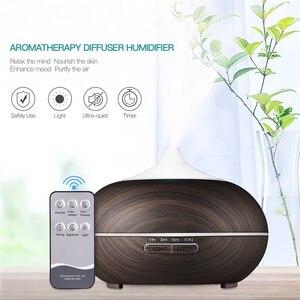 Image 5 - 550ML diffuseur darôme électrique humidificateur dair à ultrasons lampe à LED aromathérapie brumisateur télécommande diffuseur dhuile essentielle