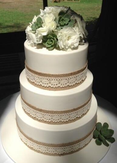 5M Natural Jute Hessian Burlap Ribbon Rustic Wedding Floristry Cake Deco